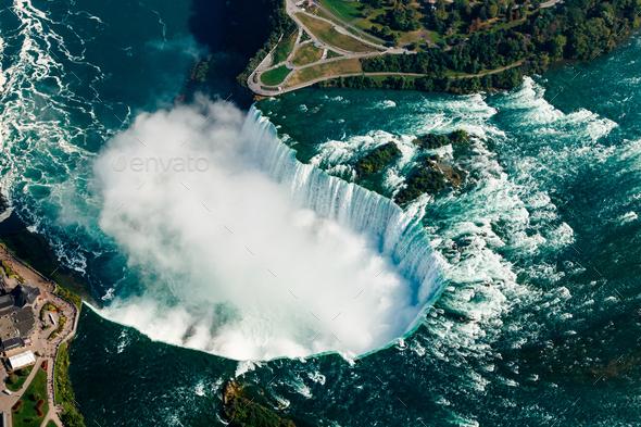 Fantastic Aerial Views Of The Niagara Falls Ontario Canada