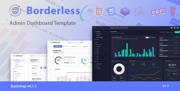 Borderless - Responsive Admin Dashboard Template by laborasyon