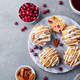 Muffins, Cakes with Cranberry and Pecan Nuts. Christmas Decoration. Top View. Copy Space. - PhotoDune Item for Sale