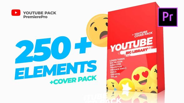 Youtube Library and Сover pack Mogrt