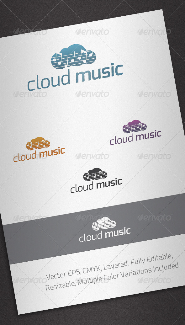 Cloud Music Logo Template - Abstract Logo Templates