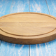 pizza cutting board at rustic wooden table - PhotoDune Item for Sale