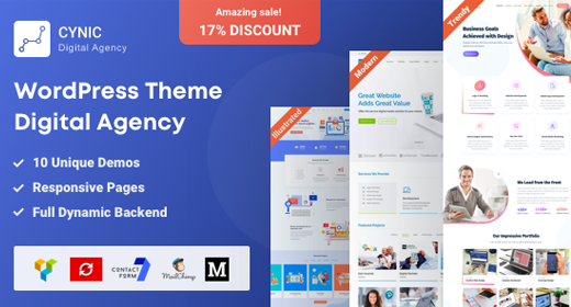 Best Digital Agency WordPress Themes