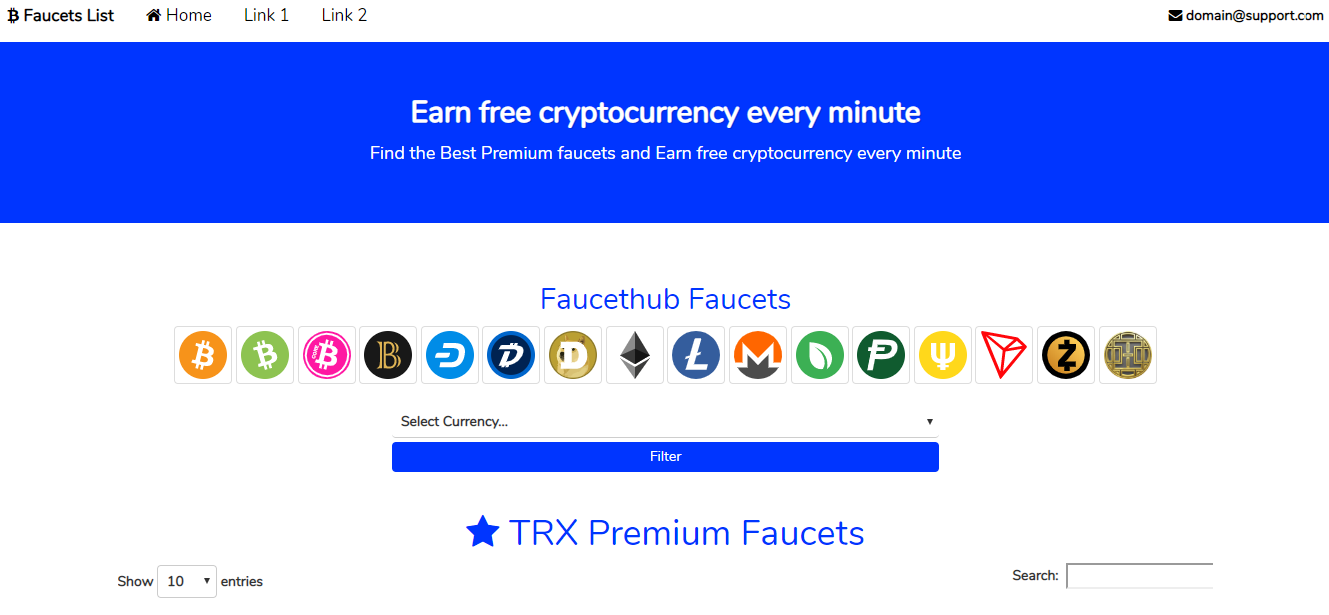 Cryptocurrency Faucet List