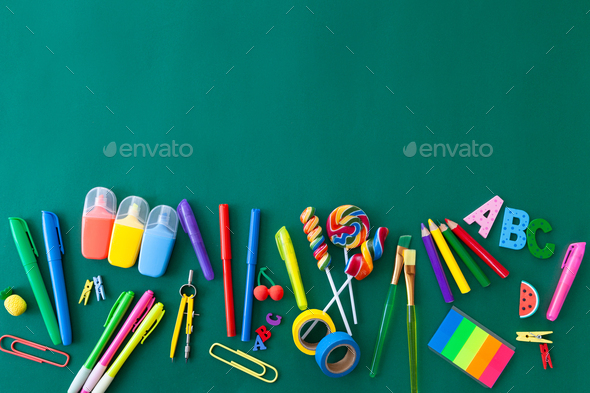 Colorful Back to School background - Stock Photo - Images