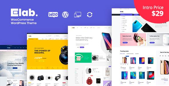 eLab - Electronics Shop WordPress Theme