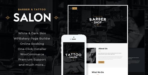 Salon | Barbershop & Tattoo Studio WordPress Theme