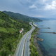 Beautiful Coastal Road With Overlooking The Sea.Aerial View - PhotoDune Item for Sale