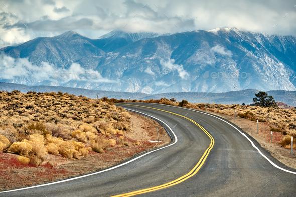 Open highway in California - Stock Photo - Images