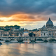St. Peter's cathedral and Tiber river at evening in Rome - PhotoDune Item for Sale