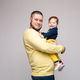 Portrait of happy father posing with lovely smiling child - PhotoDune Item for Sale