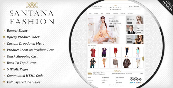 Santana HTML Version - Shopping Retail