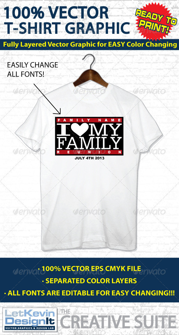Family Reunion Vector T-shirt Graphic by letkevindesignit | GraphicRiver