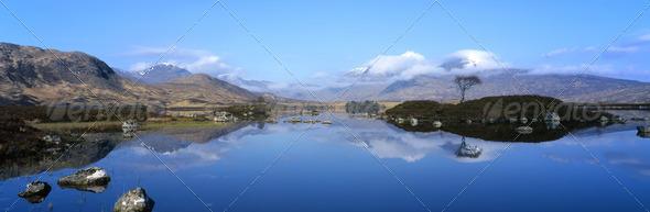idyllic reflection - Stock Photo - Images