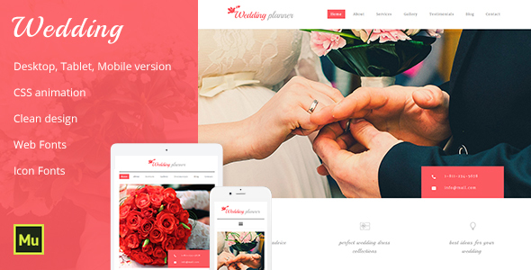Wedding Adobe Muse Template