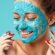 Beauty treatment - woman applying clay face scrub mask - PhotoDune Item for Sale