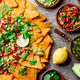 Nachos. Totopos with sauces. Mexican food concept. - PhotoDune Item for Sale
