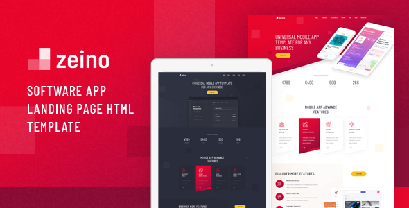 Zeino - Software App Landing Page HTML Template by Layerdrops