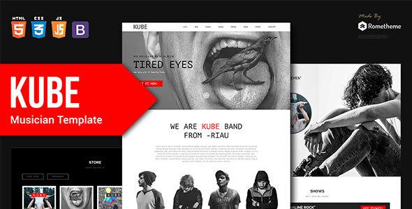 Kube - Musician, DJ, Band, Music HTML Template by Rometheme