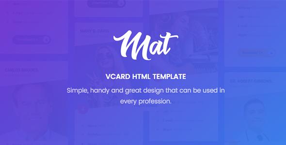 Mat - vCard & Resume Template