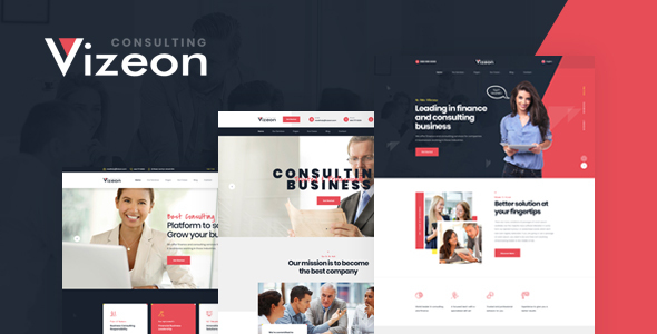 Vizeon - Business Consulting HTML Template by Layerdrops