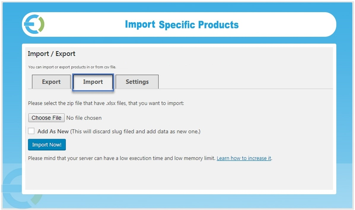 WooCommerce Product Import Plugin - Import Export Products in CSV