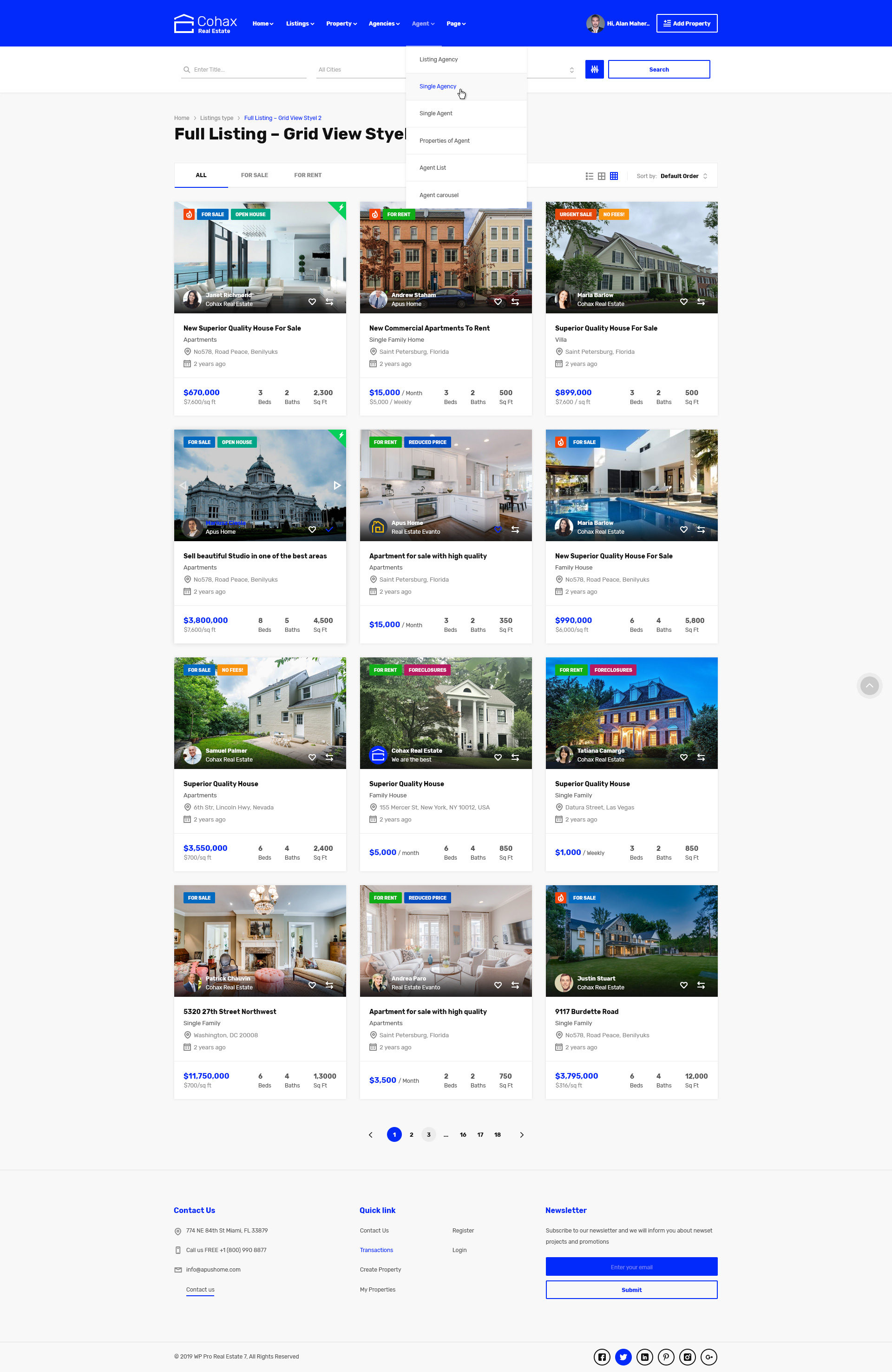 Cohax - Real Estate PSD Template