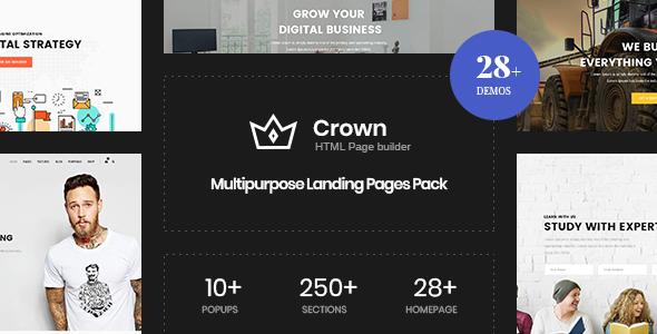 Crown | Multi-Purpose Html5 Landing Template by zytheme