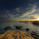 Evening Light Gilds the Sandstone Rock of the Coast - PhotoDune Item for Sale