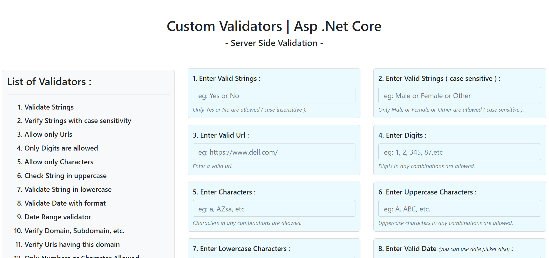 Custom Validation With Source Code | Asp Core