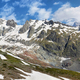 Glacier and falls in Val Veny, Aosta valley, Italy - PhotoDune Item for Sale