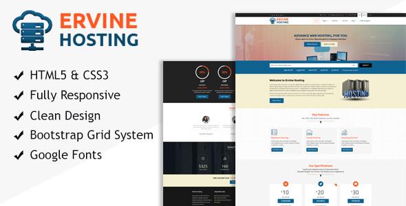 Ervine Hosting - Responsive HTML Template