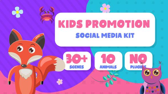 Kids Promotion Social Media Kit Download