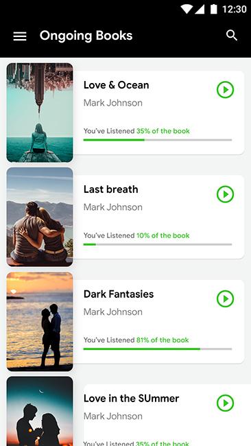 Audio Book Android App + iOS App Template | Bookspeak (HTML+CSS files IONIC  3)