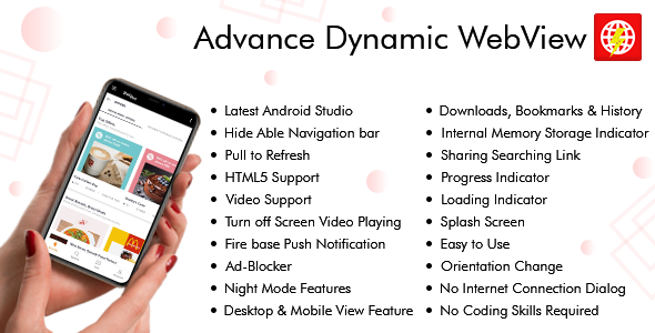 Advance Dynamic Webview AndroidApp & Web Dashboard