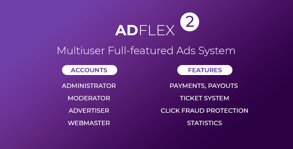 AdFlex - Multi User Full-featured Ads System