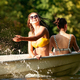 Happy group of friends having fun, laughting and swimming in river - PhotoDune Item for Sale