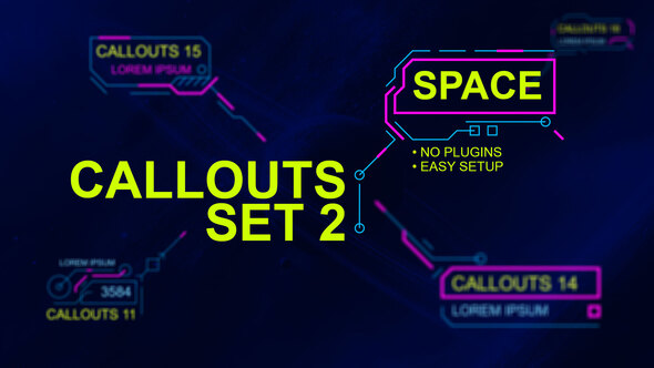 Callouts set 2 space Download