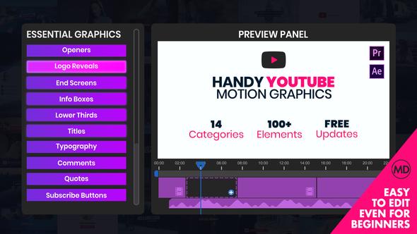 Handy Youtube Motion Graphics | Mogrt