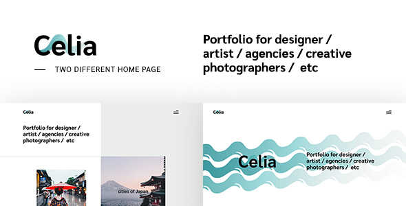 Celia - Creative Multipage Responsive Website by ThemesCode