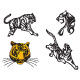 Tiger Vector Set - GraphicRiver Item for Sale