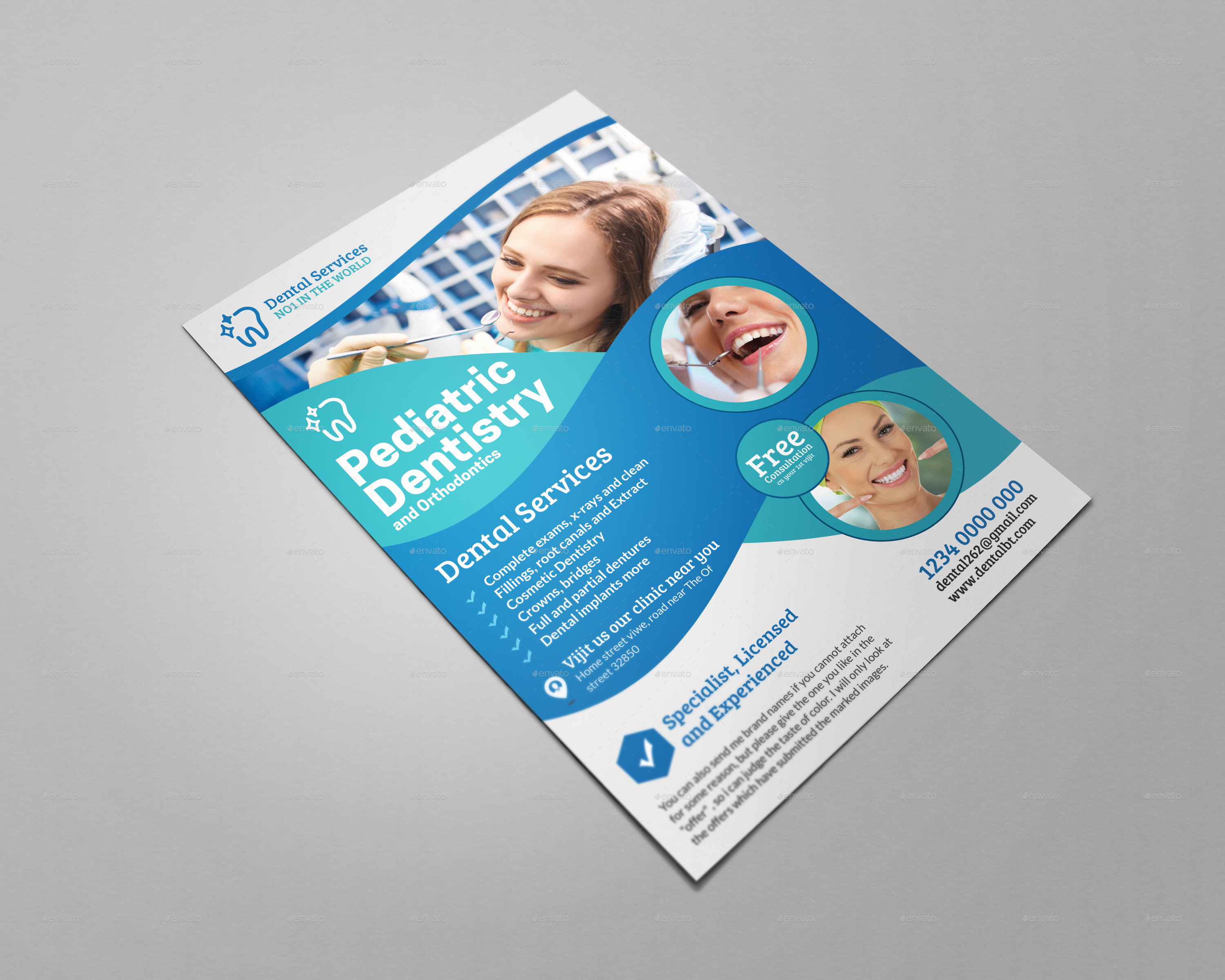 Dental Care Health Medical Flyer Template