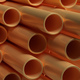 Pipes tubes copper metal, round profile, full background. 3d illustration - PhotoDune Item for Sale