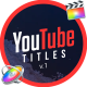 YouTube Motion Titles | Final Cut Pro X - VideoHive Item for Sale