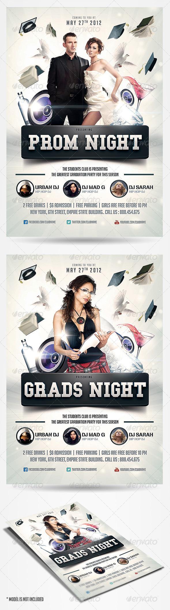 Graduation Prom Flyer - Flyers Print Templates