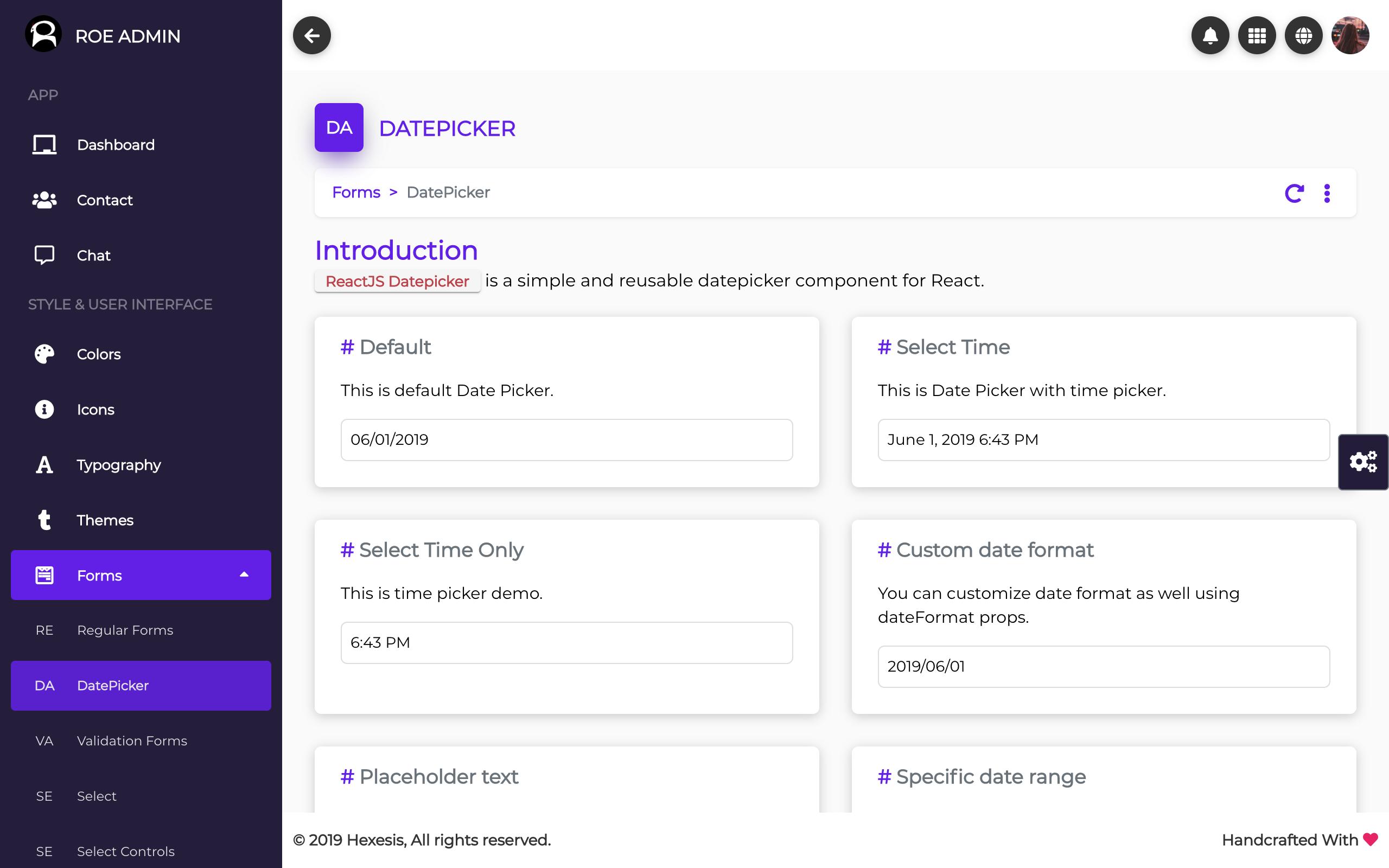 Roe - ReactJS Admin Dashboard Template