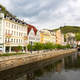 City river and outdoor cafes, Karlovy Vary - PhotoDune Item for Sale