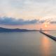 beautiful scenery of poyang lake in sunrise - PhotoDune Item for Sale