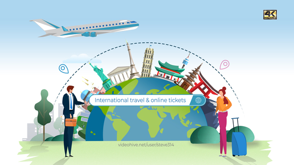 Online Tickets and Travel Services Logo Download
