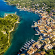Gaios, capital city of Paxos Island, aerial view. Greece - PhotoDune Item for Sale